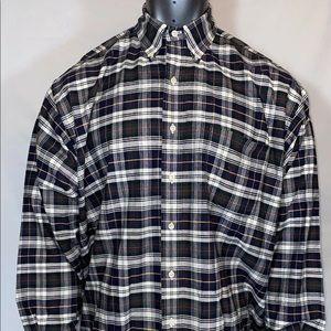 """Ralph Lauren """"Big Shirt"""" Tartan Plaid Oxford XL"""